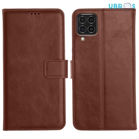 Samsung Galaxy F62 Flip Back Cover Leather Finish Mobile Case - Brown