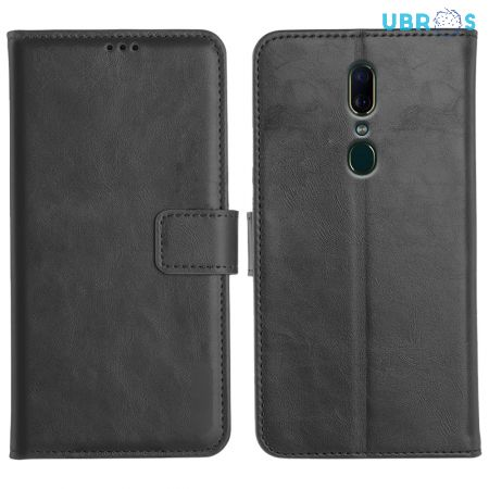 Oppo F11 Magnetic Flip Cover Leather Finish Mobile Case