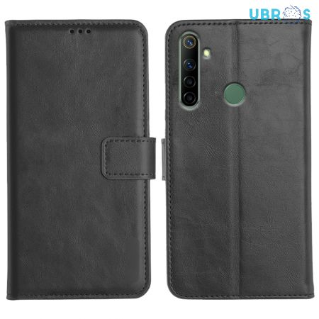 Realme Narzo 10 Magnetic Flip Cover Leather Finish Mobile Case