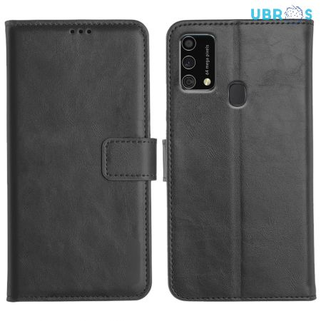 Samsung Galaxy F41 Magnetic Flip Cover Leather Finish Mobile Case